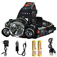 KEKU High Power LED Headlamp(5000 Lumens MAX) Rechargeable Waterproof HeadLamp Flashlight on the head headlamp with 3...