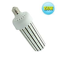 Caree-LED 150W LED Corn Bulb Replace 400W HID,HPS Warehouse High/Low Bay Fixture Light,5000K Crystal White E39 Mogul ...