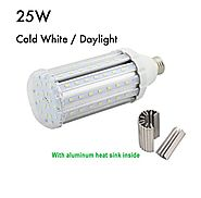 Bonlux E26 25w Screw Socket LED Corn Light 85-265v Ac Daylight Pure White 6000k for Garden Street Path Lighting High-...