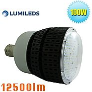 Caree-LED 100W LED High/Low Bay Retrofit Warehouse Light (400watt-500watt Metal Sodium Halide Bulb) E39 Mogul Screw B...