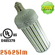 NUOGUAN 1000W Metal Halide Retrofit E39 High Bay Warehouse Light 200W LED Corn Cob 25625 Lumens Cool White 6000K Pc C...