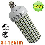 NUOGUAN 1000 Watt MH BT56 Replacement 250W LED Corn Light E39 Mogul Base 5500K Daylight White 34425 Lumens High Bay W...