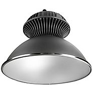 LE 55W LED High Bay Light, Super Bright Commercial Lighting, 150W HPS or MH Bulbs Equivalent, 4800lm, Waterproof, Day...