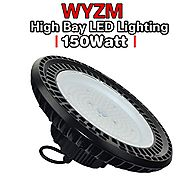 150W UL Proved High Bay LED Lighting,Works From 110V to 277V,600W HPS or MH Bulbs Equivalent,Great Garage Shopping Ma...