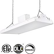 Hykolity 2' LED Linear High Bay Shop Light Fixture 110W [400W Fluorescent Equivalent] 14500lm 5000K Dimmable Commerci...