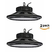 CY LED 150W UFO LED High Bay Lighting, UL Listed, 300W HPS/MH Bulbs Equivalent, 18500lm, Waterproof, Daylight White, ...