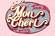 Mon Cheri Typeface + Extras by jiwstudio on Envato Elements