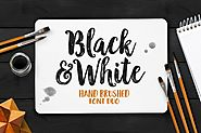 Black And White Typeface by Seniors_Studio on Envato Elements
