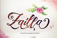 Zailla Script by dirtylinetype on Envato Elements