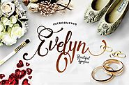 Evelyn Script by dirtylinetype on Envato Elements