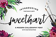 Sweethart Font by michael_gilliam on Envato Elements