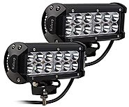 "Kaleep 7"" 2PCS 36W Spot LED Work Light Bar Cree Led Super Bright Fog Lights Waterproof for Off Road SUV Jeep Truck Ca..."