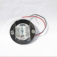 X-Haibei Marine Boat RV Interior Courtesy Cabin Walkway Flush Mount White LED Light Round Dia. 75mm