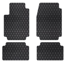 Intro-Tech Hexomat Custom Fit Floor Mat - (Black), Pack of 4