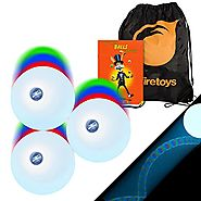 3x LED Strobe Effect Juggling Balls, Mr Babache Jugling Instruction Booklet & Bag