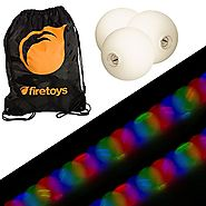Glow Juggling Ball Set - 3x Strobe LED Juggling Balls & Firetoys Bag