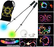 LED Poi - Glow Poi - Slow Fade LED Glow Poi by Flames N Games +Travel Bag!