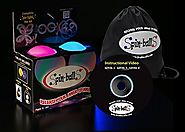 LED Poi - Spin-ballS Brand Spin-lightS (Pair)