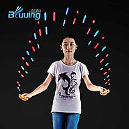 LED Glow Flashing Exercise Skipping Jump Rope Colorful in Dark for Kids as Gifts Bluuing
