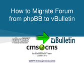 How to Migrate from phpBB to vBulletin