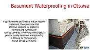 Ottawa Foundation Repair Waterproofing Concrete Repair