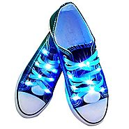 YUSHAN LED Light Up Shoelaces, 3 Lighting Modes Night Glowing Shoe Strings, Disco Flash Lighting Shoes Laces Best for...
