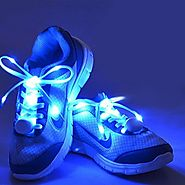 AcTopp LED Shoelaces High Visibility Soft Nylon Light Up Shoelace with 4 Modes Rainbow Colors for Night Running, Biki...