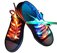 Lystaii LED Light Waterproof Shoelaces Shoestring Battery Powered Flash Lighting the Night for Party Hip-hop Dancing ...