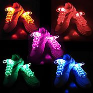 2win2buy 5 Pairs Waterproof Luminous LED Shoelaces Fashion Light Up Casual Sneaker Shoe Laces Disco Party Night Glowi...