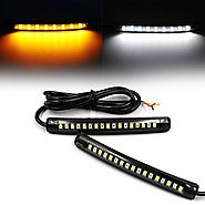 Purishion 2x Universal Flexible LED Turn Signal Tail Brake License Plate Light Integrated for Motorcycle Bike ATV Car...