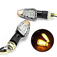 INNOGLOW Motorcycle Turn Signals 2pcs LED Bulb Indicators Motorbike Blinkers Amber Lamp Lights Fits Choppers, Cruiser...