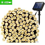Solar String Lights 72ft 200 LED Fairy Lights, Ambiance lights for Outdoor, Patio, Lawn,Garden, Home, Wedding, Holida...