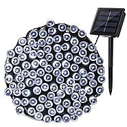 Qedertek Solar Christmas String Lights, 72ft 200 LED Outdoor Fairy Decorative Lights with 8 Lighting Modes for Home, ...