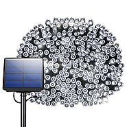 200 LED Solar String Lights, Litom Outdoor Solar Decor Powered Lights with 72 ft Super Long String and 8 Working Mode...