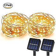 Solar String Lights, MagicPro 100 LEDs Starry String Lights, Copper Wire solar Lights Ambiance Lighting for Outdoor, ...