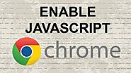 how to enable javascript in chrome windows