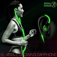 LightingCool Visible Glowing LED in-Ear Earphone Light Up Stereo sport Headphones with Mic over ear style Lights Flas...