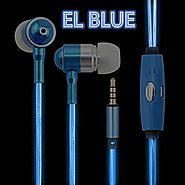 DTECH LED Earphones EL LED HEADSET Light Flashed with Music Rhythm Earbuds in Ear Headphones samsung galaxy s edge He...