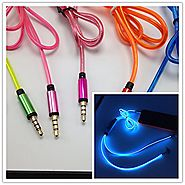 LightingCool Visible Glowing LED in-Ear Earphone Light Up Stereo Headphone with Mic Lights Flashing to Music Beat Wir...
