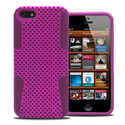 KAYSCASE SafeNet Sillicon + Hard Shell Back Cover Case for Apple new iPhone 5 / iPhone 5S (Purple)