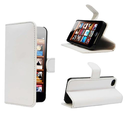 KAYSCASE Book Wallet Style Leather Cover Case for Apple new iPhone 5 / iPhone 5S, Retail Packaging (White)