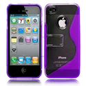 KAYSCASE S-Line Stand Case Cover for Apple new iPhone 5 / iPhone 5S (Purple)