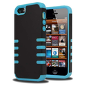 KAYSCASE FrostingShell Cover Case for Apple new iPhone 5 / iPhone 5S (Black/Blue)