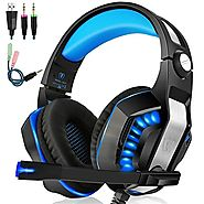 Beexcellent GM-2 Gaming Headset with Mic - Sound Clarity, Noise Reduction Headphones with LED Lights | Soft & Comfy E...