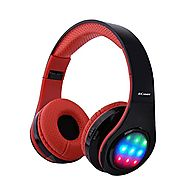 Ecandy Bluetooth Headphones w/Led Wireless/Wired Stereo Music Foldable Over-ear Hifi Sound With Microphones Hands-fre...