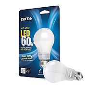 Cree 60W Equivalent Soft White (2700K) A19 Dimmable 11W LED Light Bulb with 4FLOW Filament Design, 6-Pack