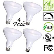 BR40 LED Bulb by Bioluz LED, Dimmable Indoor / Outdoor 100W Equivalent (Uses 13W) Soft White 3000K 110° Beam Angle, S...