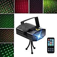 LED Projector Laser Lights, Blingco Mini Auto Flash RGB Led Stage Lights Sound Activated for DJ Disco Party Home Show...