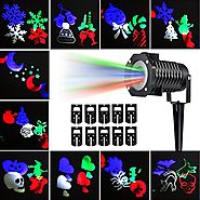 Party Projection Lights Led Projector Light, Kohree Outdoor Light Snowflake Spotlight 10 Pattern Sparkling Landscape ...