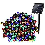 Qedertek 200 LED Solar Powered Christmas Lights, 72ft Fairy Lights Decorative Lighting for Home, Lawn, Garden, Party ...